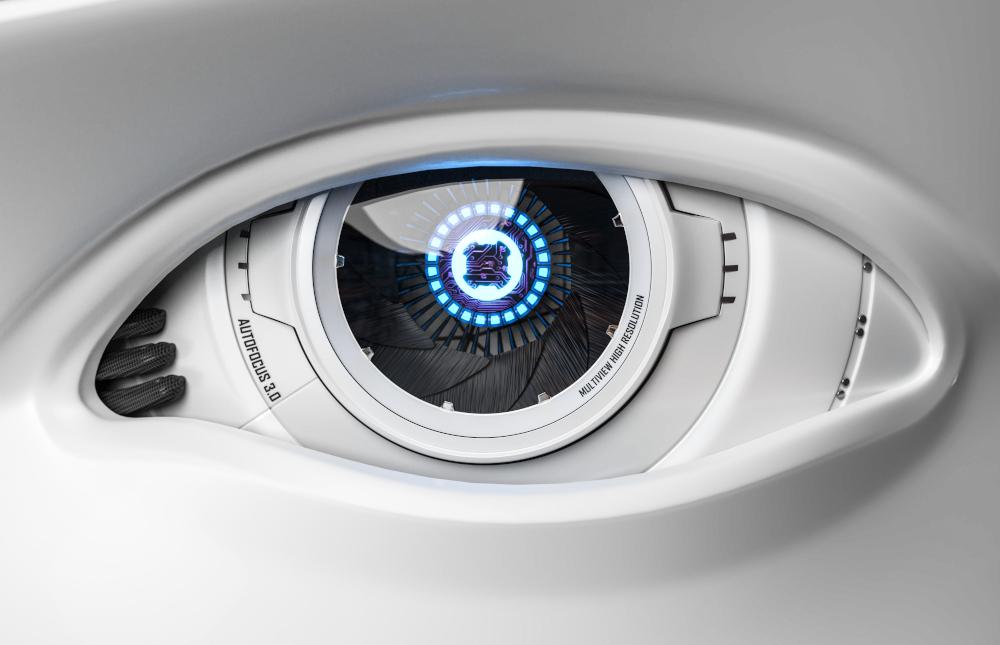 3D Illustration Roboter Auge